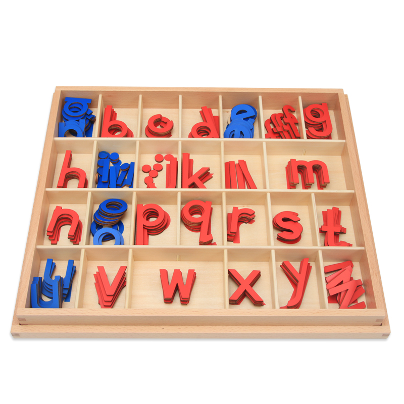 Small lowercase moving letters